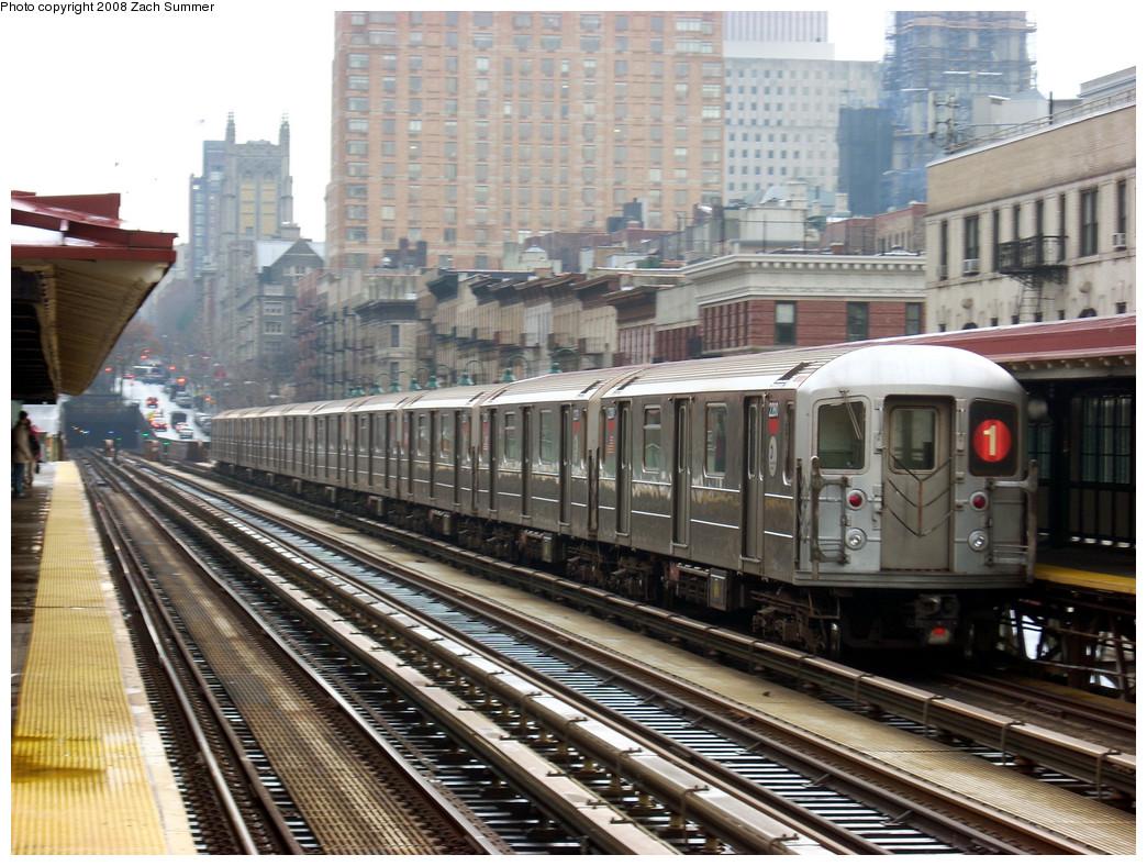(310k, 1044x788)<br><b>Country:</b> United States<br><b>City:</b> New York<br><b>System:</b> New York City Transit<br><b>Line:</b> IRT West Side Line<br><b>Location:</b> 125th Street <br><b>Route:</b> 1<br><b>Car:</b> R-62A (Bombardier, 1984-1987)  2280 <br><b>Photo by:</b> Zach Summer<br><b>Date:</b> 12/14/2007<br><b>Viewed (this week/total):</b> 1 / 2109