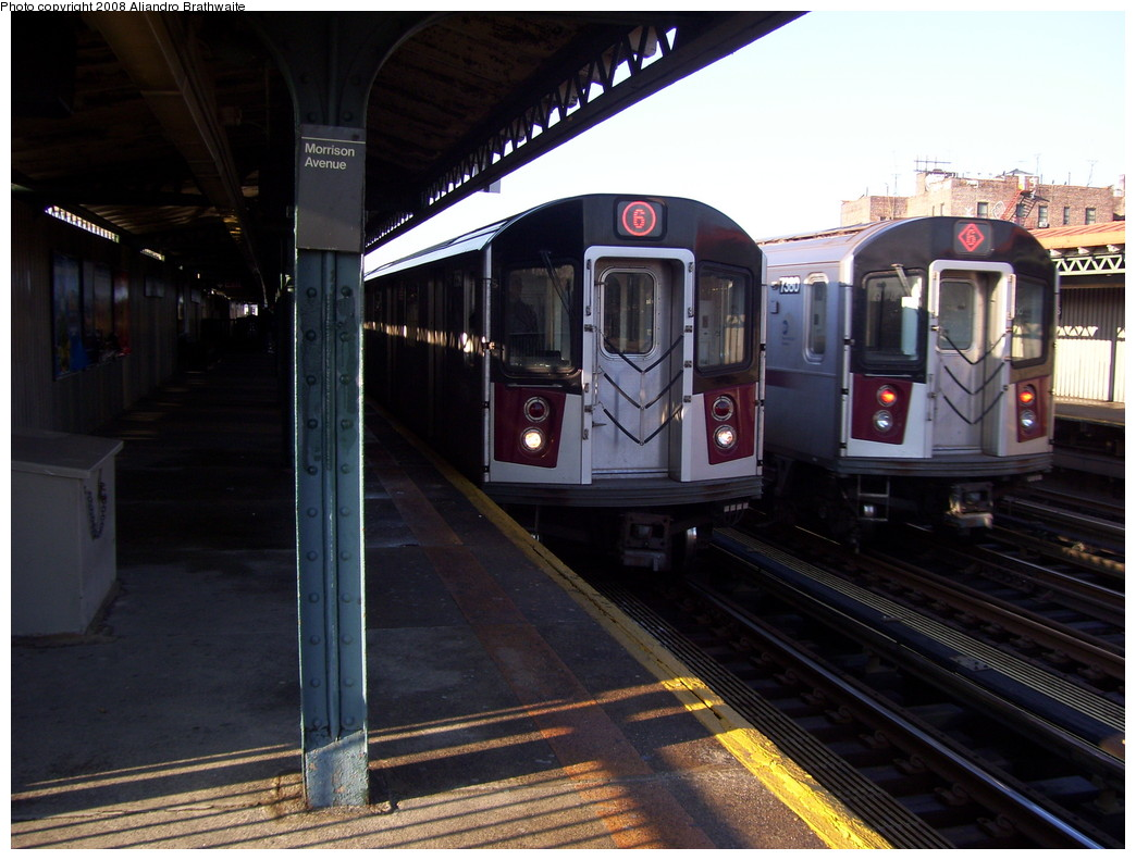 (217k, 1044x791)<br><b>Country:</b> United States<br><b>City:</b> New York<br><b>System:</b> New York City Transit<br><b>Line:</b> IRT Pelham Line<br><b>Location:</b> Morrison/Soundview Aves. <br><b>Route:</b> 6<br><b>Car:</b> R-142A (Primary Order, Kawasaki, 1999-2002)  7456 <br><b>Photo by:</b> Aliandro Brathwaite<br><b>Date:</b> 12/31/2007<br><b>Viewed (this week/total):</b> 0 / 2510