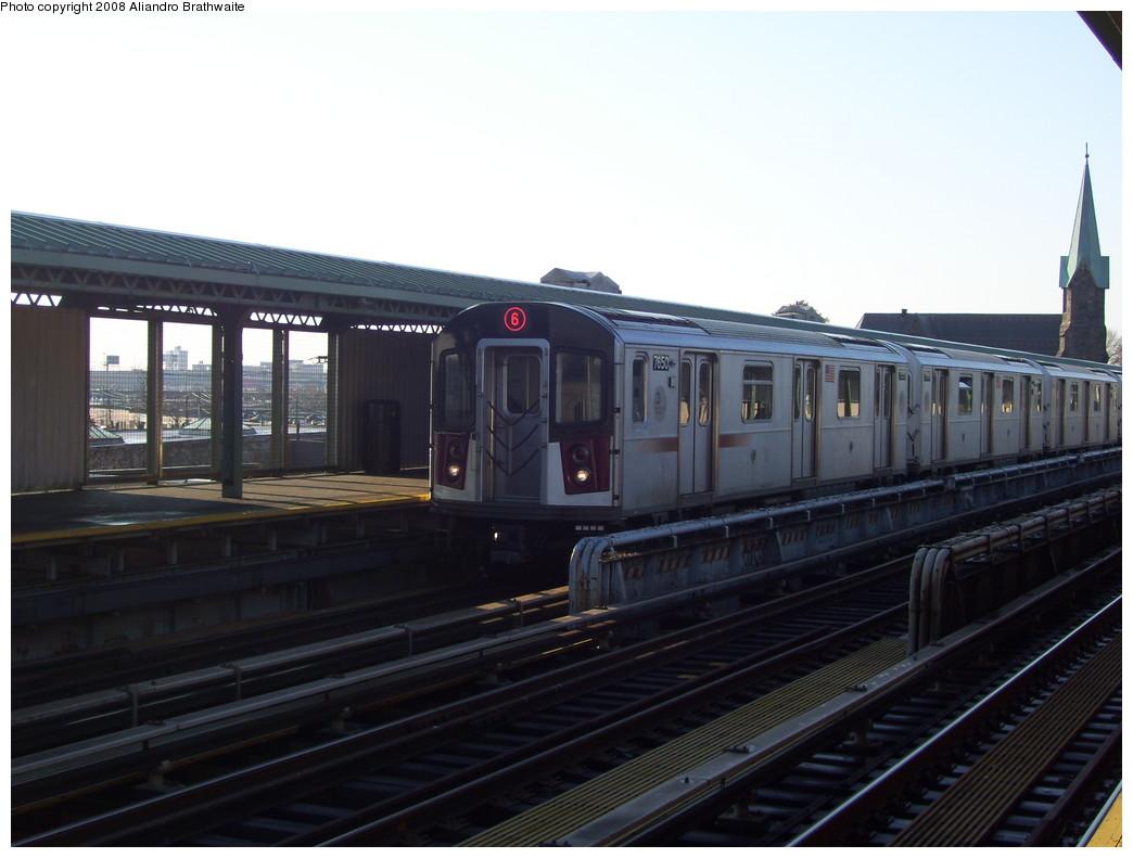 (174k, 1044x791)<br><b>Country:</b> United States<br><b>City:</b> New York<br><b>System:</b> New York City Transit<br><b>Line:</b> IRT Pelham Line<br><b>Location:</b> Westchester Square <br><b>Route:</b> 6<br><b>Car:</b> R-142A (Option Order, Kawasaki, 2002-2003)  7650 <br><b>Photo by:</b> Aliandro Brathwaite<br><b>Date:</b> 12/31/2007<br><b>Viewed (this week/total):</b> 0 / 2878