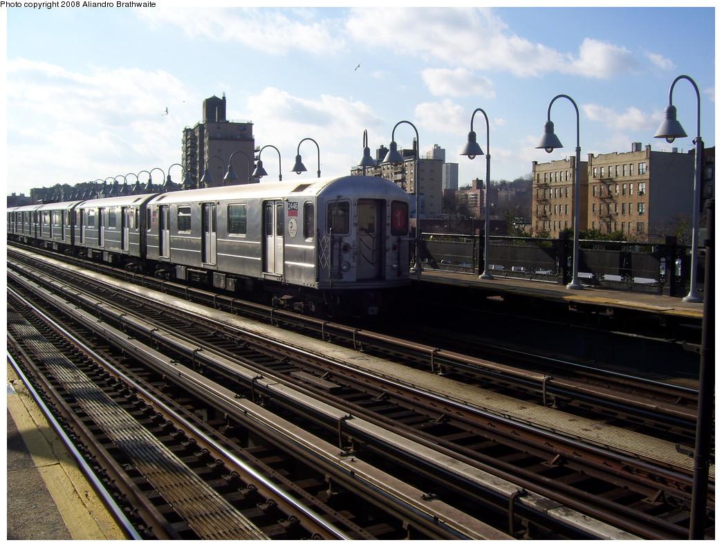 (267k, 1044x791)<br><b>Country:</b> United States<br><b>City:</b> New York<br><b>System:</b> New York City Transit<br><b>Line:</b> IRT West Side Line<br><b>Location:</b> 238th Street <br><b>Route:</b> 1<br><b>Car:</b> R-62A (Bombardier, 1984-1987)  2446 <br><b>Photo by:</b> Aliandro Brathwaite<br><b>Date:</b> 12/31/2007<br><b>Viewed (this week/total):</b> 0 / 2364