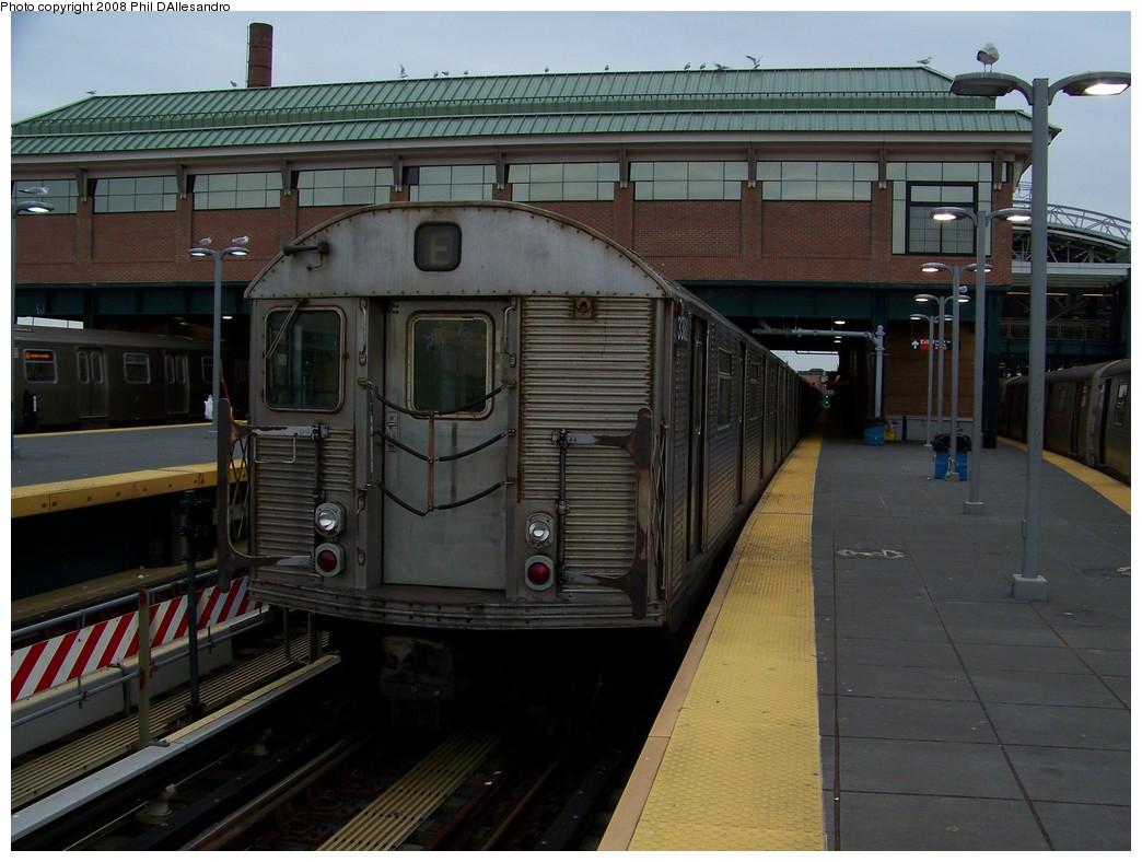(206k, 1044x788)<br><b>Country:</b> United States<br><b>City:</b> New York<br><b>System:</b> New York City Transit<br><b>Location:</b> Coney Island/Stillwell Avenue<br><b>Route:</b> F<br><b>Car:</b> R-32 (Budd, 1964)  3382 <br><b>Photo by:</b> Philip D'Allesandro<br><b>Date:</b> 1/19/2008<br><b>Viewed (this week/total):</b> 0 / 2599