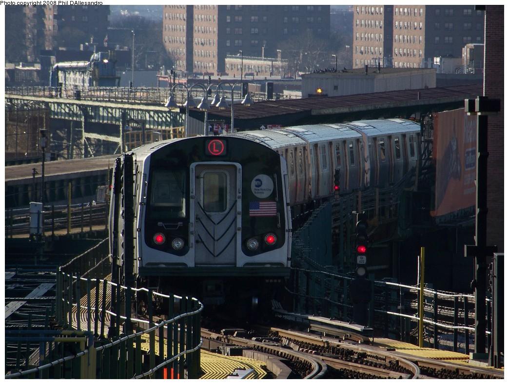 (257k, 1044x788)<br><b>Country:</b> United States<br><b>City:</b> New York<br><b>System:</b> New York City Transit<br><b>Line:</b> BMT Canarsie Line<br><b>Location:</b> Atlantic Avenue <br><b>Route:</b> L<br><b>Car:</b> R-143 (Kawasaki, 2001-2002) 8149 <br><b>Photo by:</b> Philip D'Allesandro<br><b>Date:</b> 1/23/2008<br><b>Viewed (this week/total):</b> 0 / 2903