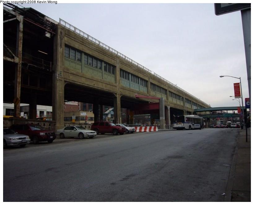 (98k, 820x662)<br><b>Country:</b> United States<br><b>City:</b> New York<br><b>System:</b> New York City Transit<br><b>Location:</b> Queensborough Plaza <br><b>Photo by:</b> Kevin Wong<br><b>Date:</b> 1/5/2008<br><b>Notes:</b> View of Queensborough Plaza station from street.<br><b>Viewed (this week/total):</b> 0 / 3279