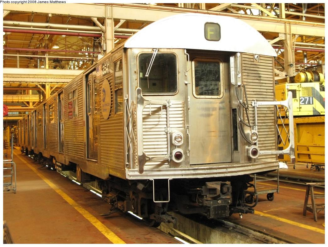 (248k, 1044x788)<br><b>Country:</b> United States<br><b>City:</b> New York<br><b>System:</b> New York City Transit<br><b>Location:</b> Coney Island Shop/Overhaul & Repair Shop<br><b>Car:</b> R-32 (Budd, 1964)  3541 <br><b>Photo by:</b> James Matthews<br><b>Date:</b> 1/21/2008<br><b>Viewed (this week/total):</b> 0 / 1760