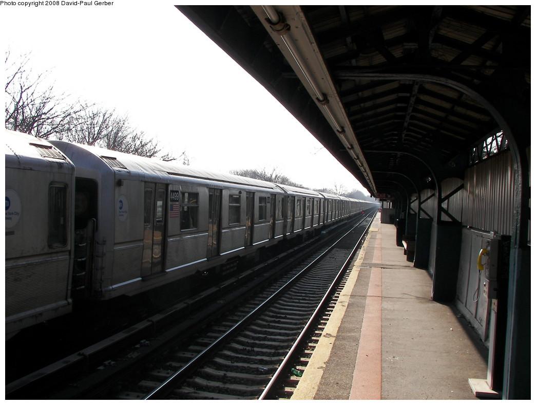 (235k, 1044x788)<br><b>Country:</b> United States<br><b>City:</b> New York<br><b>System:</b> New York City Transit<br><b>Line:</b> BMT Brighton Line<br><b>Location:</b> Neck Road <br><b>Route:</b> Layup<br><b>Car:</b> R-40M (St. Louis, 1969)  4499 <br><b>Photo by:</b> David-Paul Gerber<br><b>Date:</b> 2/3/2008<br><b>Viewed (this week/total):</b> 0 / 2160
