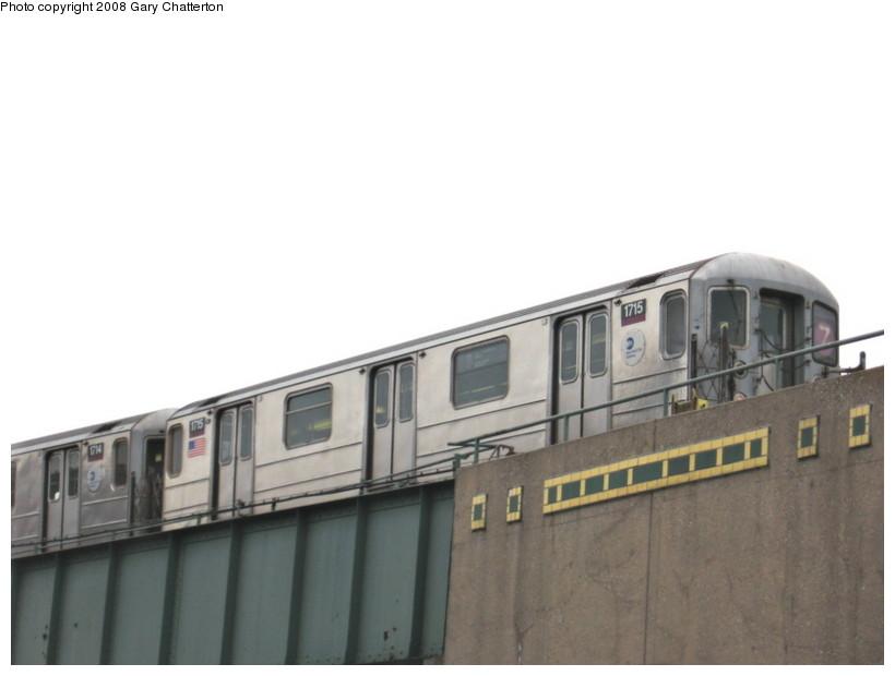 (73k, 820x620)<br><b>Country:</b> United States<br><b>City:</b> New York<br><b>System:</b> New York City Transit<br><b>Line:</b> IRT Flushing Line<br><b>Location:</b> 46th Street/Bliss Street <br><b>Route:</b> 7<br><b>Car:</b> R-62A (Bombardier, 1984-1987)  1715 <br><b>Photo by:</b> Gary Chatterton<br><b>Date:</b> 1/29/2008<br><b>Viewed (this week/total):</b> 3 / 2031