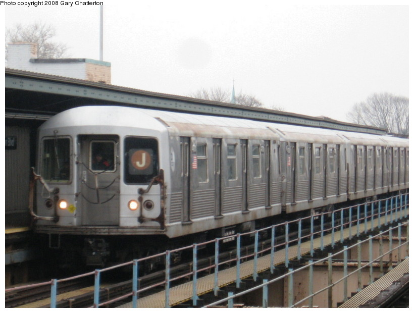 (118k, 820x620)<br><b>Country:</b> United States<br><b>City:</b> New York<br><b>System:</b> New York City Transit<br><b>Line:</b> BMT Nassau Street/Jamaica Line<br><b>Location:</b> Woodhaven Boulevard <br><b>Route:</b> J<br><b>Car:</b> R-42 (St. Louis, 1969-1970)  4701 <br><b>Photo by:</b> Gary Chatterton<br><b>Date:</b> 1/29/2008<br><b>Viewed (this week/total):</b> 2 / 1882