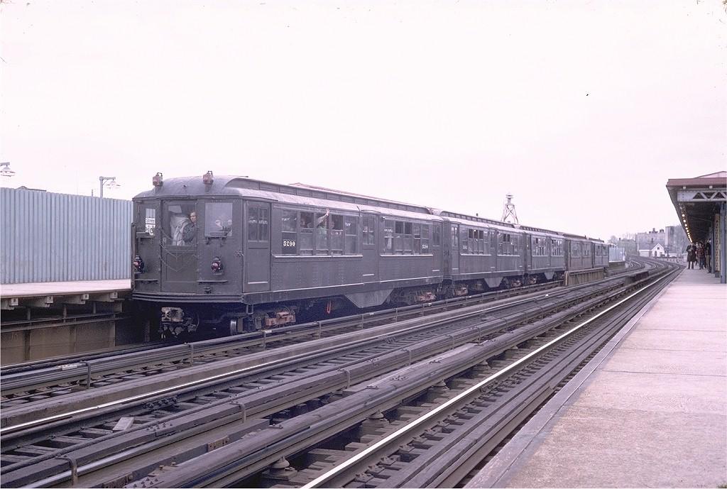 (182k, 1024x689)<br><b>Country:</b> United States<br><b>City:</b> New York<br><b>System:</b> New York City Transit<br><b>Line:</b> IRT White Plains Road Line<br><b>Location:</b> 238th Street (Nereid Avenue) <br><b>Route:</b> Fan Trip<br><b>Car:</b> Low-V (Museum Train) 5290 <br><b>Photo by:</b> Steve Zabel<br><b>Collection of:</b> Joe Testagrose<br><b>Date:</b> 4/29/1973<br><b>Notes:</b> Fantrip held day after closure of 3rd Avenue El<br><b>Viewed (this week/total):</b> 1 / 3138