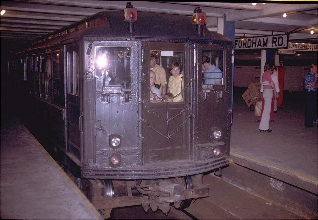 (217k, 1024x711)<br><b>Country:</b> United States<br><b>City:</b> New York<br><b>System:</b> New York City Transit<br><b>Line:</b> IND Concourse Line<br><b>Location:</b> Fordham Road <br><b>Route:</b> Fan Trip<br><b>Car:</b> Low-V (Museum Train) 5290 <br><b>Photo by:</b> Doug Grotjahn<br><b>Collection of:</b> Joe Testagrose<br><b>Date:</b> 8/5/1972<br><b>Viewed (this week/total):</b> 0 / 4306