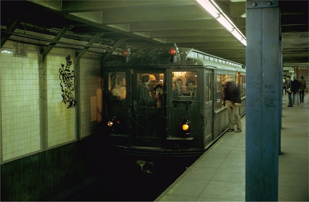 (162k, 1024x671)<br><b>Country:</b> United States<br><b>City:</b> New York<br><b>System:</b> New York City Transit<br><b>Line:</b> IRT Brooklyn Line<br><b>Location:</b> Grand Army Plaza <br><b>Route:</b> Fan Trip<br><b>Car:</b> Low-V (Museum Train) 5290 <br><b>Photo by:</b> Steve Zabel<br><b>Collection of:</b> Joe Testagrose<br><b>Date:</b> 10/28/1973<br><b>Viewed (this week/total):</b> 2 / 9001
