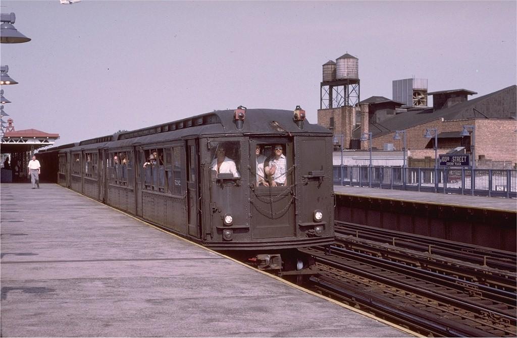 (192k, 1024x670)<br><b>Country:</b> United States<br><b>City:</b> New York<br><b>System:</b> New York City Transit<br><b>Line:</b> IRT Flushing Line<br><b>Location:</b> 103rd Street/Corona Plaza <br><b>Route:</b> Fan Trip<br><b>Car:</b> Low-V (Museum Train) 5292 <br><b>Photo by:</b> Joe Testagrose<br><b>Date:</b> 6/22/1975<br><b>Viewed (this week/total):</b> 4 / 3934
