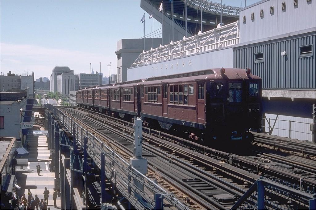 (234k, 1024x682)<br><b>Country:</b> United States<br><b>City:</b> New York<br><b>System:</b> New York City Transit<br><b>Line:</b> IRT Woodlawn Line<br><b>Location:</b> 161st Street/River Avenue (Yankee Stadium) <br><b>Route:</b> Fan Trip<br><b>Car:</b> Low-V (Museum Train) 5292 <br><b>Photo by:</b> Doug Grotjahn<br><b>Collection of:</b> Joe Testagrose<br><b>Date:</b> 5/5/1979<br><b>Viewed (this week/total):</b> 1 / 5685