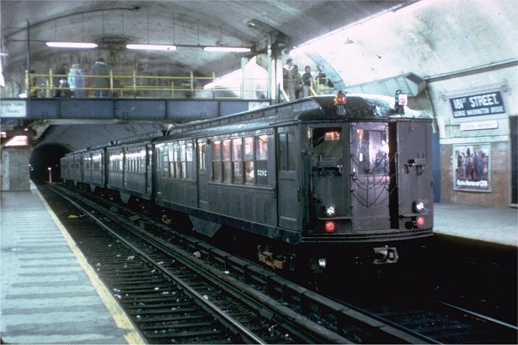 (190k, 1024x682)<br><b>Country:</b> United States<br><b>City:</b> New York<br><b>System:</b> New York City Transit<br><b>Line:</b> IRT West Side Line<br><b>Location:</b> 181st Street <br><b>Route:</b> Fan Trip<br><b>Car:</b> Low-V (Museum Train) 5292 <br><b>Photo by:</b> Joe Testagrose<br><b>Date:</b> 12/11/1977<br><b>Viewed (this week/total):</b> 2 / 4925