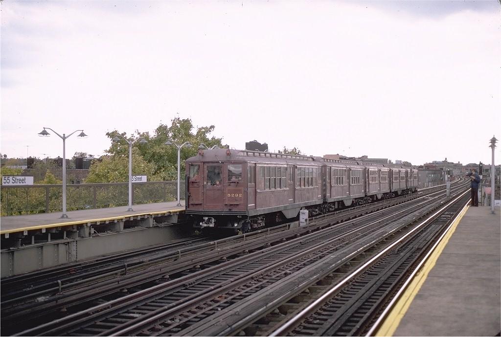 (172k, 1024x689)<br><b>Country:</b> United States<br><b>City:</b> New York<br><b>System:</b> New York City Transit<br><b>Line:</b> BMT West End Line<br><b>Location:</b> 55th Street <br><b>Route:</b> Fan Trip<br><b>Car:</b> Low-V (Museum Train) 5292 <br><b>Photo by:</b> Steve Zabel<br><b>Collection of:</b> Joe Testagrose<br><b>Date:</b> 11/1/1980<br><b>Viewed (this week/total):</b> 2 / 2883