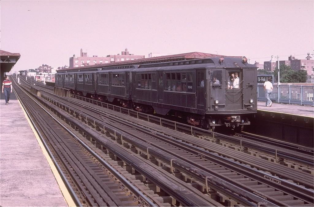 (210k, 1024x676)<br><b>Country:</b> United States<br><b>City:</b> New York<br><b>System:</b> New York City Transit<br><b>Line:</b> IRT Flushing Line<br><b>Location:</b> 69th Street/Fisk Avenue <br><b>Route:</b> Fan Trip<br><b>Car:</b> Low-V (Museum Train) 5292 <br><b>Photo by:</b> Doug Grotjahn<br><b>Collection of:</b> Joe Testagrose<br><b>Date:</b> 6/22/1975<br><b>Viewed (this week/total):</b> 0 / 2843