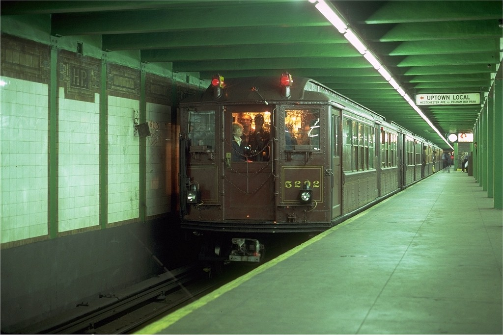 (163k, 1024x683)<br><b>Country:</b> United States<br><b>City:</b> New York<br><b>System:</b> New York City Transit<br><b>Line:</b> IRT Pelham Line<br><b>Location:</b> Hunts Point Avenue <br><b>Route:</b> Fan Trip<br><b>Car:</b> Low-V (Museum Train) 5292 <br><b>Photo by:</b> Glenn Smith<br><b>Collection of:</b> Joe Testagrose<br><b>Date:</b> 11/3/1979<br><b>Viewed (this week/total):</b> 2 / 4308