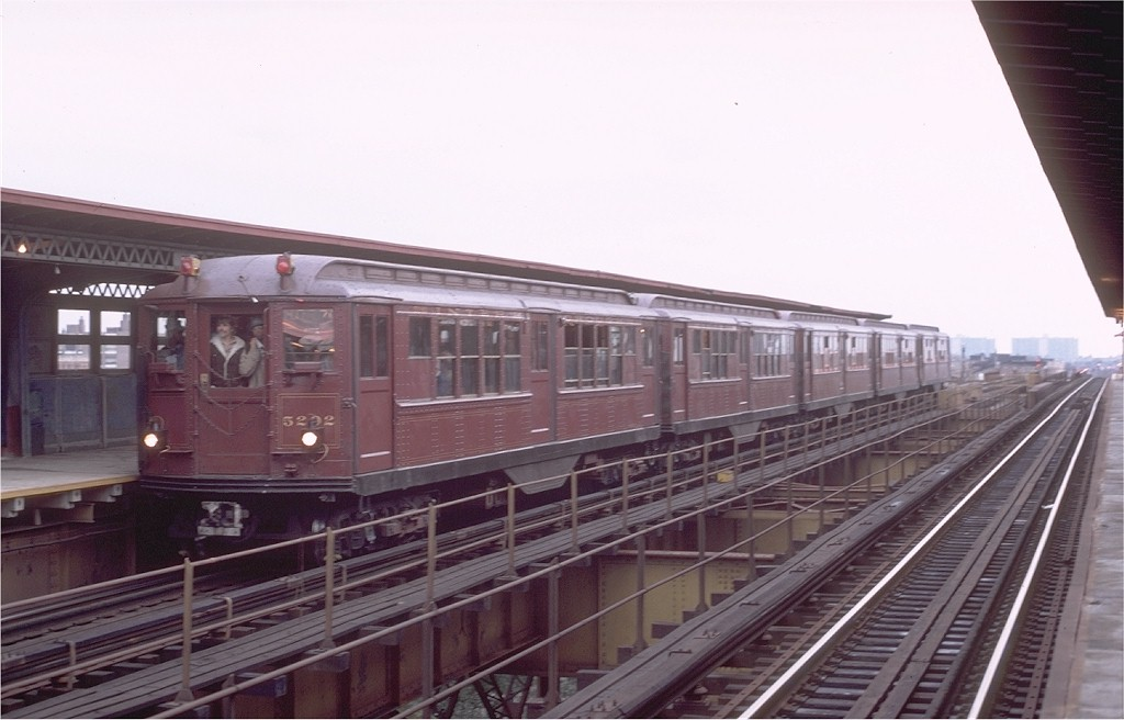 (145k, 1024x656)<br><b>Country:</b> United States<br><b>City:</b> New York<br><b>System:</b> New York City Transit<br><b>Line:</b> IRT Brooklyn Line<br><b>Location:</b> Junius Street <br><b>Route:</b> Fan Trip<br><b>Car:</b> Low-V (Museum Train) 5292 <br><b>Photo by:</b> Joe Testagrose<br><b>Date:</b> 11/3/1979<br><b>Viewed (this week/total):</b> 0 / 3415