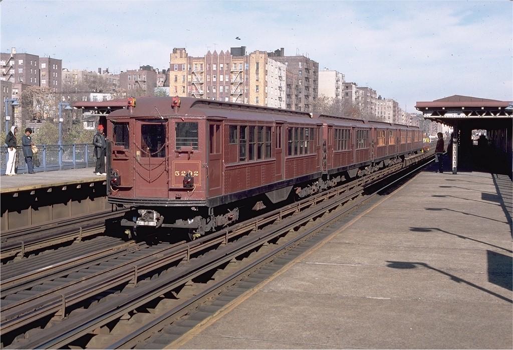 (236k, 1024x698)<br><b>Country:</b> United States<br><b>City:</b> New York<br><b>System:</b> New York City Transit<br><b>Line:</b> IRT Woodlawn Line<br><b>Location:</b> Mt. Eden Avenue <br><b>Route:</b> Fan Trip<br><b>Car:</b> Low-V (Museum Train) 5292 <br><b>Photo by:</b> Aron Eisenpress<br><b>Collection of:</b> Joe Testagrose<br><b>Date:</b> 11/17/1979<br><b>Viewed (this week/total):</b> 1 / 3960