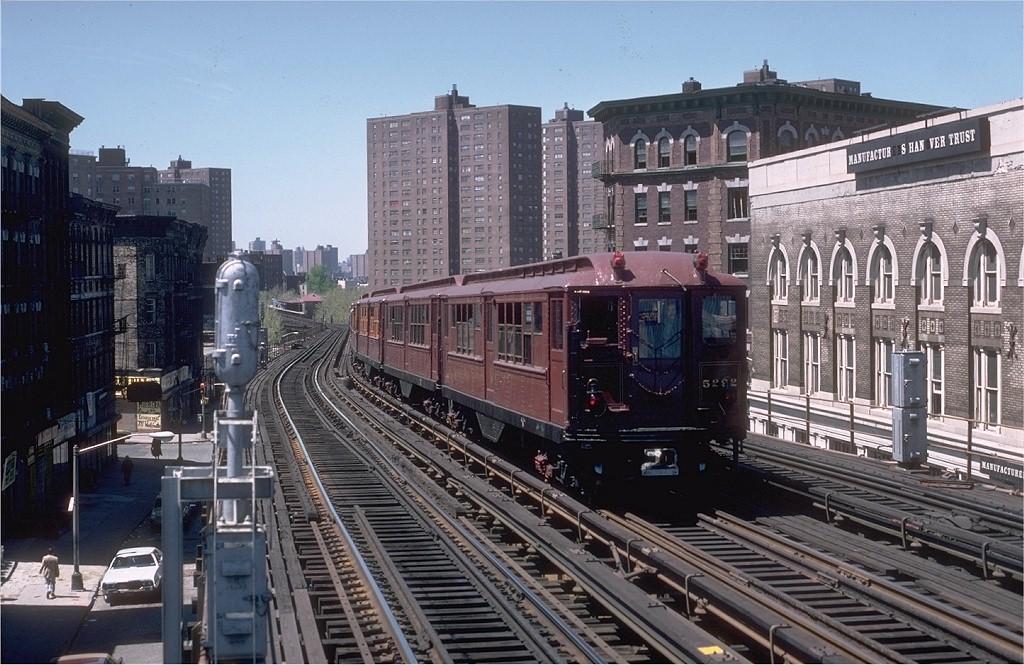 (227k, 1024x665)<br><b>Country:</b> United States<br><b>City:</b> New York<br><b>System:</b> New York City Transit<br><b>Line:</b> IRT White Plains Road Line<br><b>Location:</b> Prospect Avenue <br><b>Route:</b> Fan Trip<br><b>Car:</b> Low-V (Museum Train) 5292 <br><b>Photo by:</b> Steve Zabel<br><b>Collection of:</b> Joe Testagrose<br><b>Date:</b> 5/5/1979<br><b>Viewed (this week/total):</b> 2 / 4564