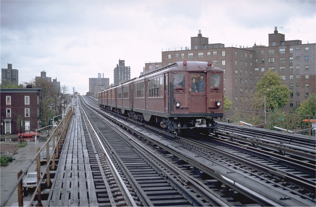 (207k, 1024x672)<br><b>Country:</b> United States<br><b>City:</b> New York<br><b>System:</b> New York City Transit<br><b>Line:</b> IRT White Plains Road Line<br><b>Location:</b> Burke Avenue <br><b>Route:</b> Fan Trip<br><b>Car:</b> Low-V (Museum Train) 5292 <br><b>Photo by:</b> Glenn Smith<br><b>Collection of:</b> Joe Testagrose<br><b>Date:</b> 11/3/1979<br><b>Viewed (this week/total):</b> 0 / 4340