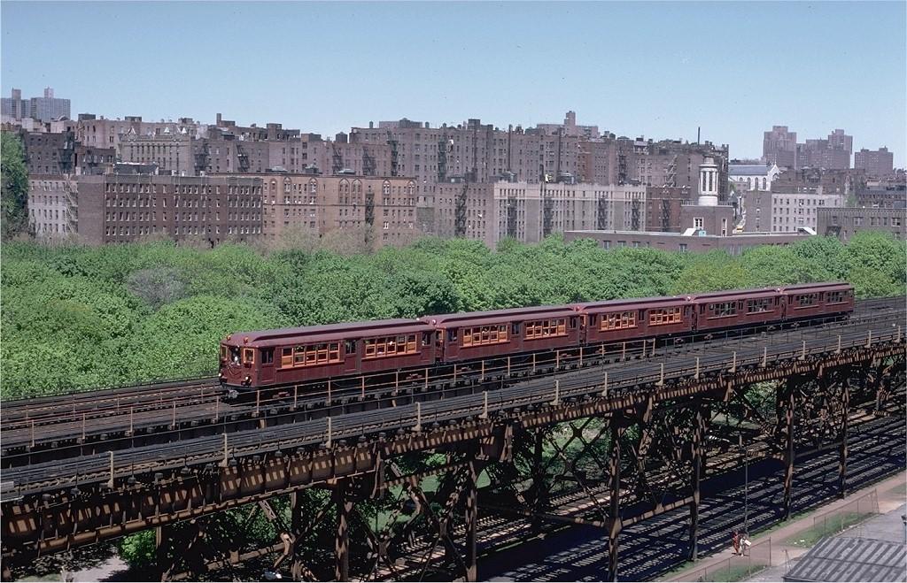 (279k, 1024x659)<br><b>Country:</b> United States<br><b>City:</b> New York<br><b>System:</b> New York City Transit<br><b>Line:</b> IRT Woodlawn Line<br><b>Location:</b> 161st Street/River Avenue (Yankee Stadium) <br><b>Route:</b> Fan Trip<br><b>Car:</b> Low-V (Museum Train) 5443 <br><b>Photo by:</b> Steve Zabel<br><b>Collection of:</b> Joe Testagrose<br><b>Date:</b> 5/5/1979<br><b>Viewed (this week/total):</b> 1 / 5114