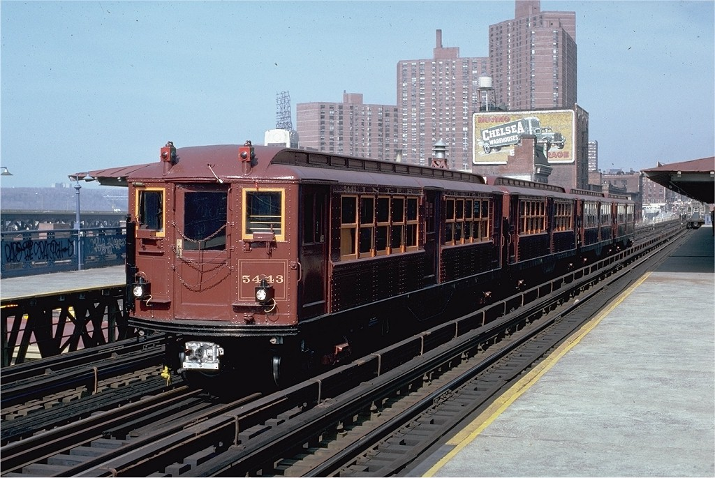 (225k, 1024x685)<br><b>Country:</b> United States<br><b>City:</b> New York<br><b>System:</b> New York City Transit<br><b>Line:</b> IRT West Side Line<br><b>Location:</b> 125th Street <br><b>Route:</b> Fan Trip<br><b>Car:</b> Low-V (Museum Train) 5443 <br><b>Photo by:</b> Frank Goldsmith<br><b>Collection of:</b> Joe Testagrose<br><b>Date:</b> 3/8/1979<br><b>Viewed (this week/total):</b> 0 / 2890