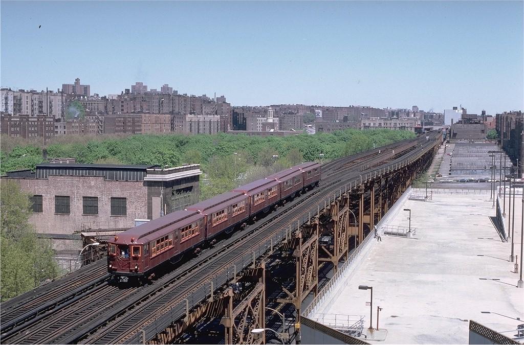(263k, 1024x675)<br><b>Country:</b> United States<br><b>City:</b> New York<br><b>System:</b> New York City Transit<br><b>Line:</b> IRT Woodlawn Line<br><b>Location:</b> 161st Street/River Avenue (Yankee Stadium) <br><b>Route:</b> Fan Trip<br><b>Car:</b> Low-V (Museum Train) 5443 <br><b>Photo by:</b> Steve Zabel<br><b>Collection of:</b> Joe Testagrose<br><b>Date:</b> 5/5/1979<br><b>Viewed (this week/total):</b> 0 / 4883