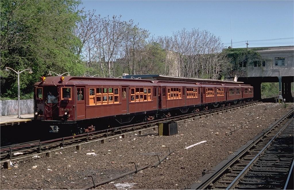 (300k, 1024x662)<br><b>Country:</b> United States<br><b>City:</b> New York<br><b>System:</b> New York City Transit<br><b>Line:</b> IRT Dyre Ave. Line<br><b>Location:</b> Gun Hill Road <br><b>Route:</b> Fan Trip<br><b>Car:</b> Low-V (Museum Train) 5443 <br><b>Photo by:</b> Doug Grotjahn<br><b>Collection of:</b> Joe Testagrose<br><b>Date:</b> 5/5/1979<br><b>Viewed (this week/total):</b> 1 / 6624