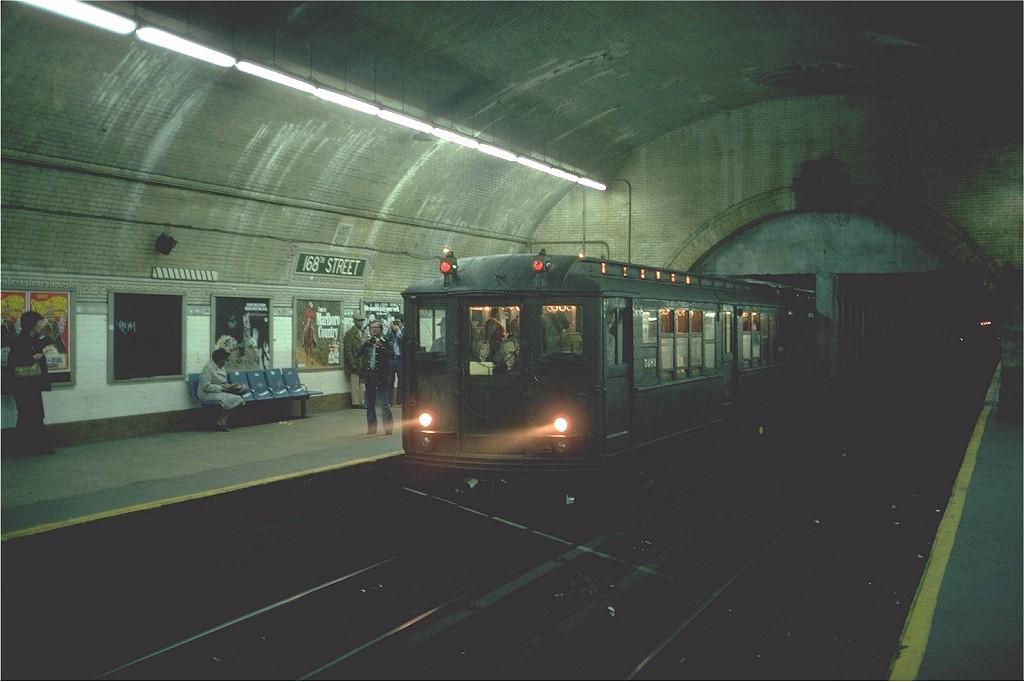 (150k, 1024x682)<br><b>Country:</b> United States<br><b>City:</b> New York<br><b>System:</b> New York City Transit<br><b>Line:</b> IRT West Side Line<br><b>Location:</b> 168th Street<br><b>Route:</b> Fan Trip<br><b>Car:</b> Low-V (Museum Train) 5483 <br><b>Photo by:</b> Steve Zabel<br><b>Collection of:</b> Joe Testagrose<br><b>Date:</b> 4/10/1976<br><b>Viewed (this week/total):</b> 0 / 6922