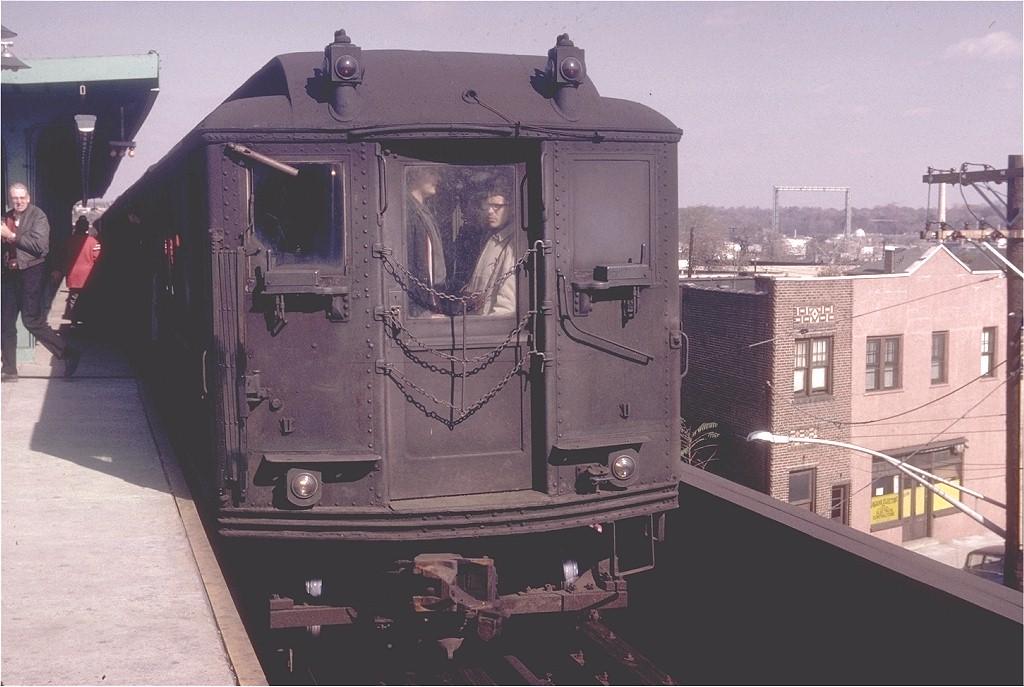 (175k, 1024x687)<br><b>Country:</b> United States<br><b>City:</b> New York<br><b>System:</b> New York City Transit<br><b>Line:</b> IRT Dyre Ave. Line<br><b>Location:</b> Dyre Avenue <br><b>Route:</b> Fan Trip<br><b>Car:</b> Low-V 5496 <br><b>Photo by:</b> Joel Shanus<br><b>Collection of:</b> Joe Testagrose<br><b>Date:</b> 10/24/1964<br><b>Notes:</b> National ERA fan trip, last run of the Low-V cars.<br><b>Viewed (this week/total):</b> 1 / 4374
