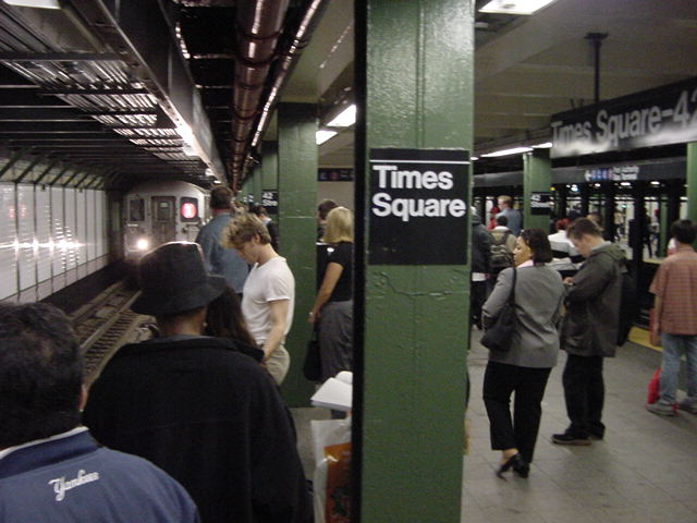 (60k, 640x480)<br><b>Country:</b> United States<br><b>City:</b> New York<br><b>System:</b> New York City Transit<br><b>Line:</b> IRT West Side Line<br><b>Location:</b> Times Square/42nd Street <br><b>Photo by:</b> Salaam Allah<br><b>Date:</b> 9/28/2002<br><b>Viewed (this week/total):</b> 0 / 5347
