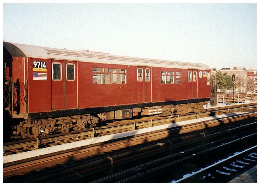 (95k, 830x596)<br><b>Country:</b> United States<br><b>City:</b> New York<br><b>System:</b> New York City Transit<br><b>Line:</b> IRT Flushing Line<br><b>Location:</b> 82nd Street/Jackson Heights <br><b>Route:</b> 7<br><b>Car:</b> R-36 World's Fair (St. Louis, 1963-64) 9714 <br><b>Photo by:</b> Gary Chatterton<br><b>Date:</b> 12/7/2002<br><b>Viewed (this week/total):</b> 1 / 3434