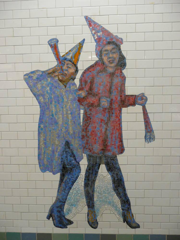 (103k, 750x1000)<br><b>Country:</b> United States<br><b>City:</b> New York<br><b>System:</b> New York City Transit<br><b>Line:</b> IRT West Side Line<br><b>Location:</b> Times Square/42nd Street<br><b>Photo by:</b> Robbie Rosenfeld<br><b>Date:</b> 2/4/2008<br><b>Artwork:</b> <i>The Revelers</i>, Jane Dickson, 2007<br><b>Viewed (this week/total):</b> 4 / 1786