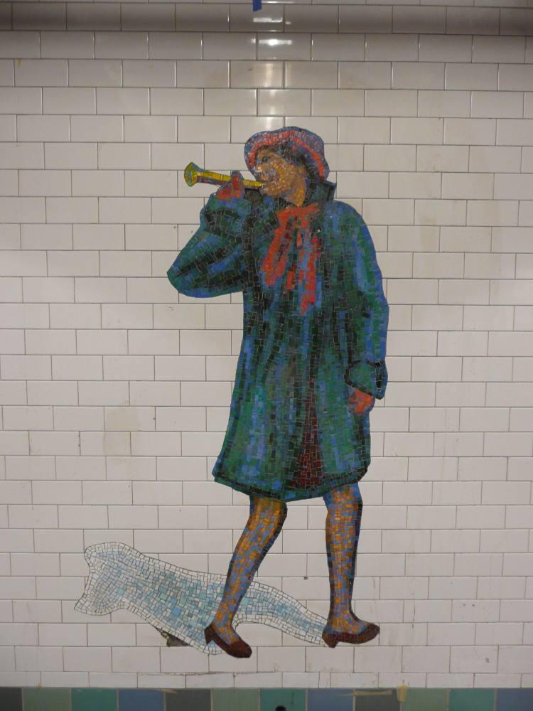 (83k, 750x1000)<br><b>Country:</b> United States<br><b>City:</b> New York<br><b>System:</b> New York City Transit<br><b>Line:</b> IRT West Side Line<br><b>Location:</b> Times Square/42nd Street <br><b>Photo by:</b> Robbie Rosenfeld<br><b>Date:</b> 2/5/2008<br><b>Artwork:</b> <i>The Revelers</i>, Jane Dickson (2007).<br><b>Viewed (this week/total):</b> 1 / 1353
