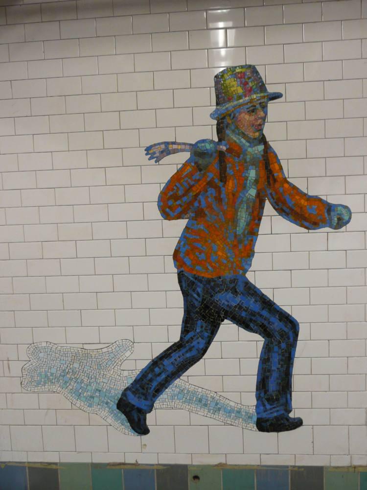 (89k, 750x1000)<br><b>Country:</b> United States<br><b>City:</b> New York<br><b>System:</b> New York City Transit<br><b>Line:</b> IRT West Side Line<br><b>Location:</b> Times Square/42nd Street <br><b>Photo by:</b> Robbie Rosenfeld<br><b>Date:</b> 2/5/2008<br><b>Artwork:</b> <i>The Revelers</i>, Jane Dickson (2007).<br><b>Viewed (this week/total):</b> 1 / 1464