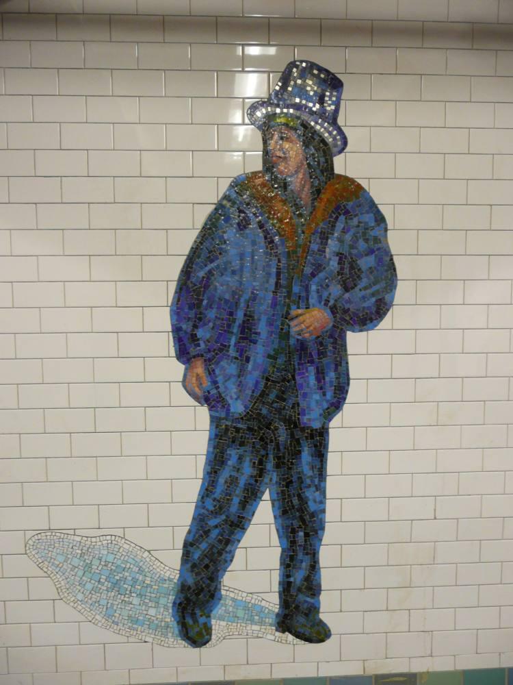 (94k, 750x1000)<br><b>Country:</b> United States<br><b>City:</b> New York<br><b>System:</b> New York City Transit<br><b>Line:</b> IRT West Side Line<br><b>Location:</b> Times Square/42nd Street <br><b>Photo by:</b> Robbie Rosenfeld<br><b>Date:</b> 2/5/2008<br><b>Artwork:</b> <i>The Revelers</i>, Jane Dickson (2007).<br><b>Viewed (this week/total):</b> 0 / 1272