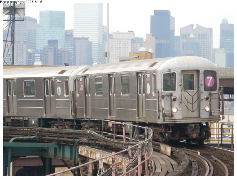 (160k, 819x619)<br><b>Country:</b> United States<br><b>City:</b> New York<br><b>System:</b> New York City Transit<br><b>Line:</b> IRT Flushing Line<br><b>Location:</b> Queensborough Plaza <br><b>Route:</b> 7<br><b>Car:</b> R-62A (Bombardier, 1984-1987)  1948 <br><b>Photo by:</b> Bill E.<br><b>Date:</b> 2/2/2008<br><b>Viewed (this week/total):</b> 2 / 1561