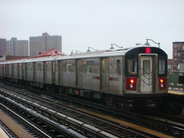(104k, 640x480)<br><b>Country:</b> United States<br><b>City:</b> New York<br><b>System:</b> New York City Transit<br><b>Line:</b> IRT White Plains Road Line<br><b>Location:</b> Prospect Avenue <br><b>Route:</b> 2<br><b>Car:</b> R-142 (Primary Order, Bombardier, 1999-2002)  6620 <br><b>Photo by:</b> Danny Molina<br><b>Date:</b> 2/2/2008<br><b>Viewed (this week/total):</b> 0 / 1988