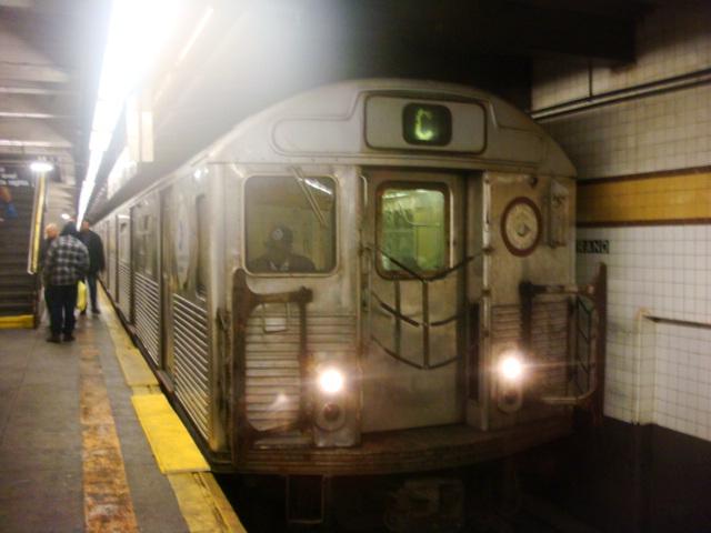 (101k, 640x480)<br><b>Country:</b> United States<br><b>City:</b> New York<br><b>System:</b> New York City Transit<br><b>Line:</b> IND Fulton Street Line<br><b>Location:</b> Nostrand Avenue <br><b>Route:</b> C<br><b>Car:</b> R-38 (St. Louis, 1966-1967)   <br><b>Photo by:</b> Danny Molina<br><b>Date:</b> 2/2/2008<br><b>Viewed (this week/total):</b> 5 / 2341