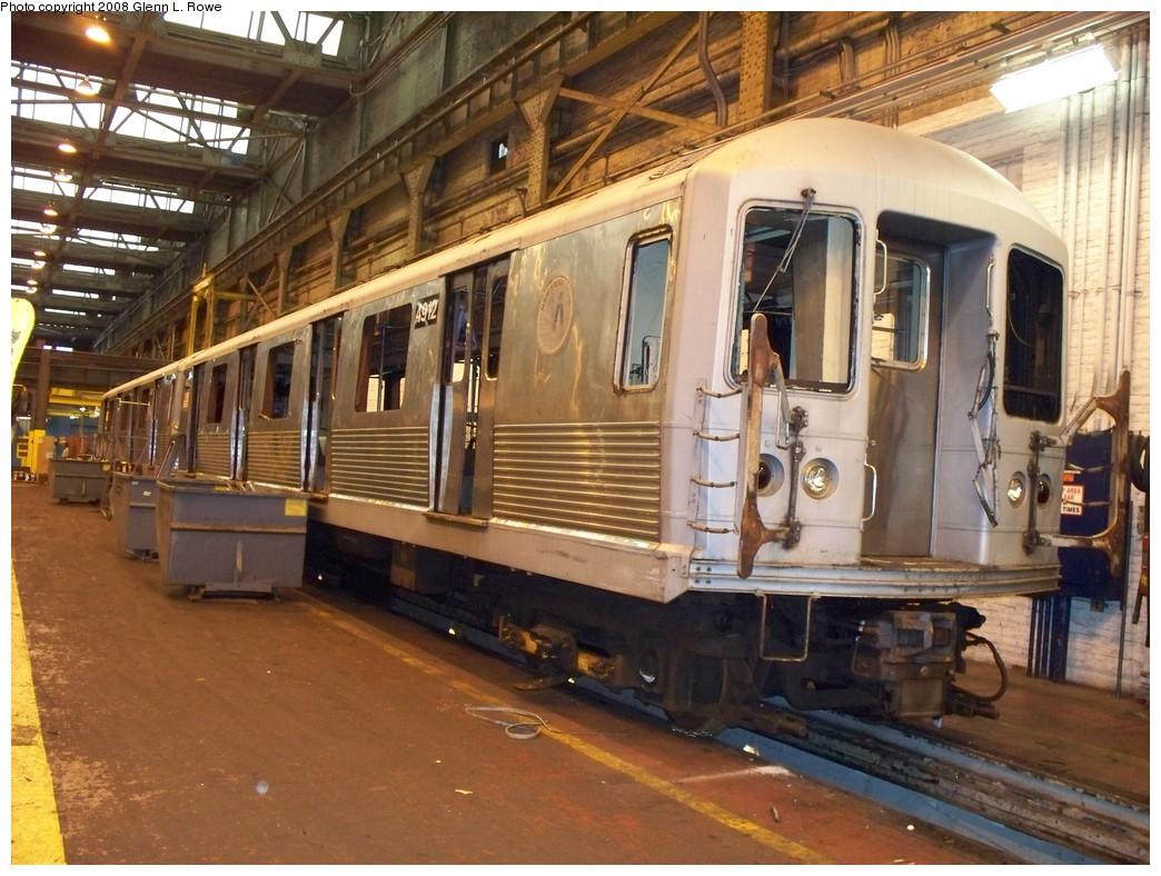 (249k, 1044x788)<br><b>Country:</b> United States<br><b>City:</b> New York<br><b>System:</b> New York City Transit<br><b>Location:</b> 207th Street Shop<br><b>Car:</b> R-42 (St. Louis, 1969-1970)  4912 <br><b>Photo by:</b> Glenn L. Rowe<br><b>Date:</b> 2/6/2008<br><b>Viewed (this week/total):</b> 0 / 1345