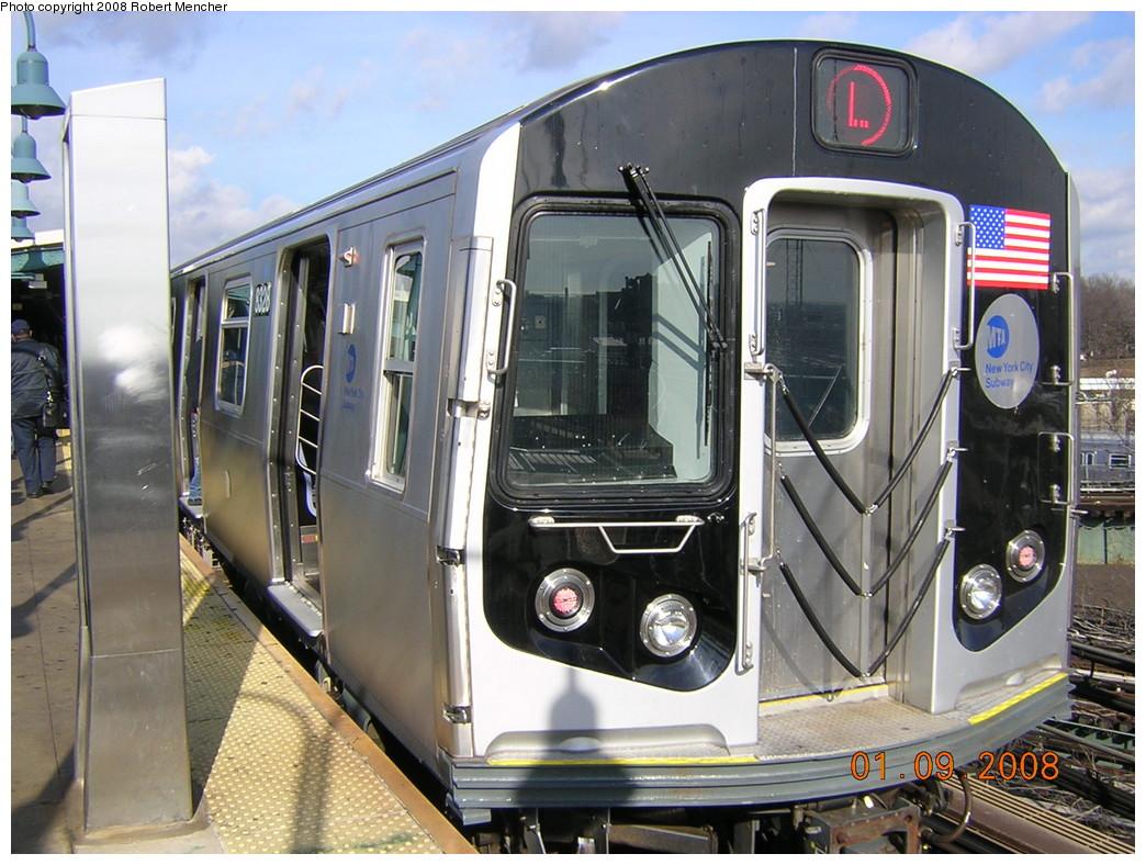 (271k, 1044x788)<br><b>Country:</b> United States<br><b>City:</b> New York<br><b>System:</b> New York City Transit<br><b>Line:</b> BMT Canarsie Line<br><b>Location:</b> Broadway Junction <br><b>Route:</b> L<br><b>Car:</b> R-160A-1 (Alstom, 2005-2008, 4 car sets)  8328 <br><b>Photo by:</b> Robert Mencher<br><b>Date:</b> 1/9/2008<br><b>Viewed (this week/total):</b> 0 / 1812