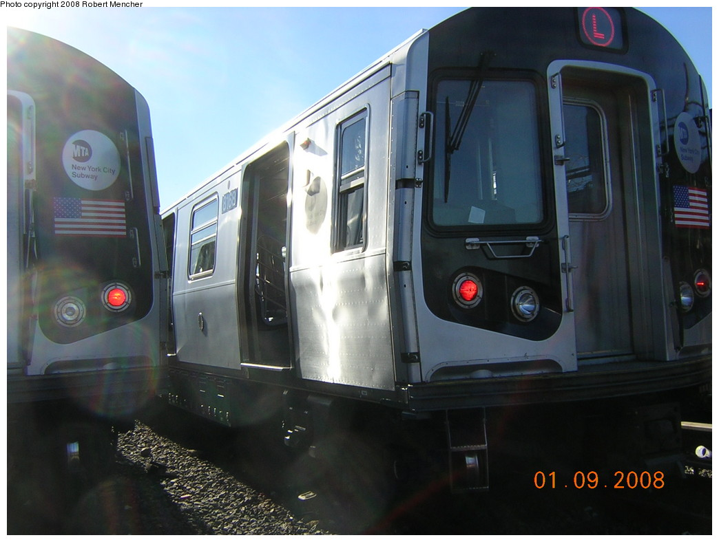 (204k, 1044x788)<br><b>Country:</b> United States<br><b>City:</b> New York<br><b>System:</b> New York City Transit<br><b>Location:</b> Rockaway Parkway (Canarsie) Yard<br><b>Car:</b> R-143 (Kawasaki, 2001-2002) 8168 <br><b>Photo by:</b> Robert Mencher<br><b>Date:</b> 1/9/2008<br><b>Viewed (this week/total):</b> 0 / 2328