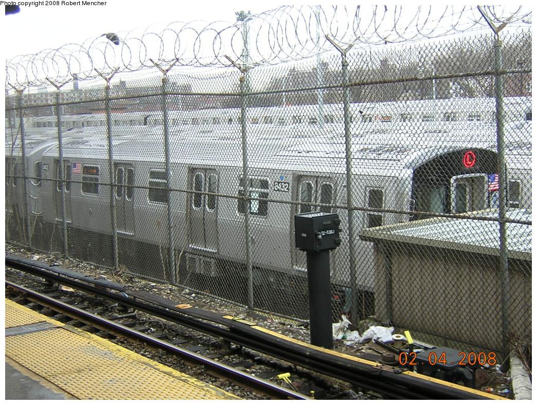 (399k, 1044x788)<br><b>Country:</b> United States<br><b>City:</b> New York<br><b>System:</b> New York City Transit<br><b>Location:</b> Rockaway Parkway (Canarsie) Yard<br><b>Car:</b> R-160A-1 (Alstom, 2005-2008, 4 car sets)  8342 <br><b>Photo by:</b> Robert Mencher<br><b>Date:</b> 2/4/2008<br><b>Viewed (this week/total):</b> 1 / 2725