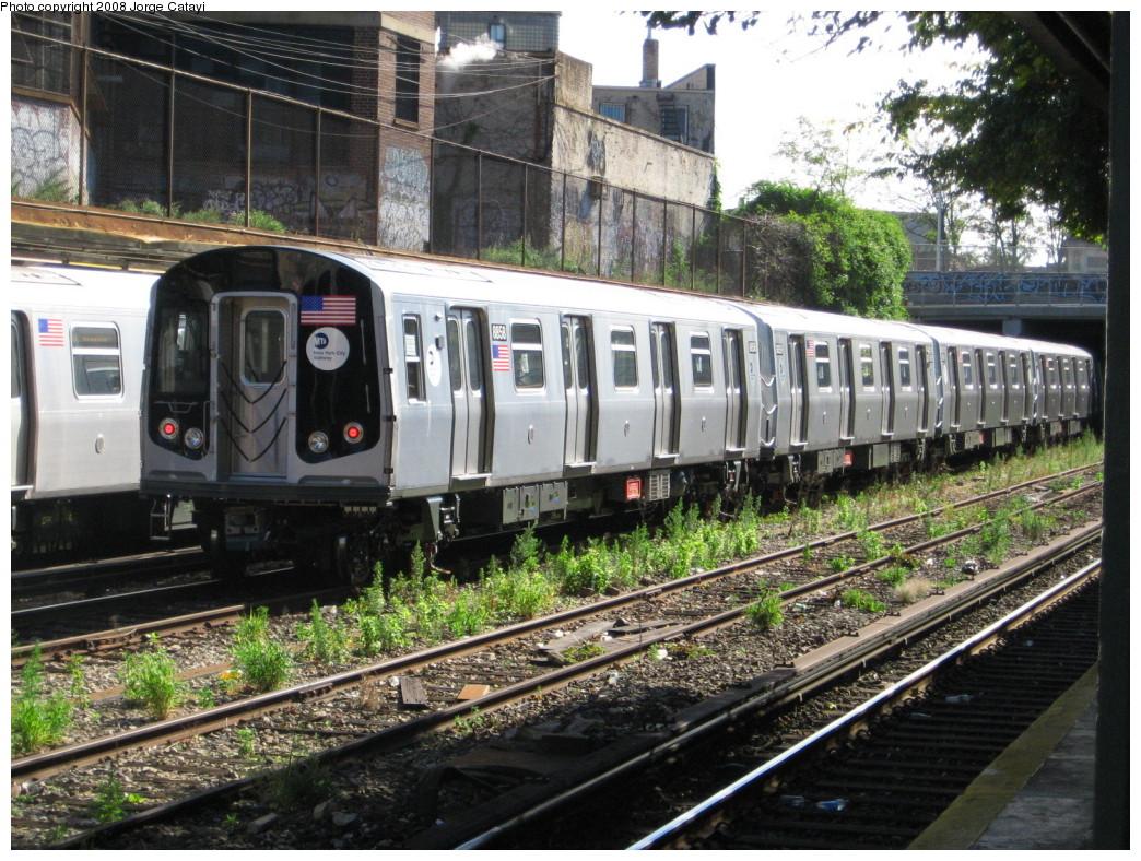 (294k, 1044x788)<br><b>Country:</b> United States<br><b>City:</b> New York<br><b>System:</b> New York City Transit<br><b>Line:</b> BMT Sea Beach Line<br><b>Location:</b> New Utrecht Avenue <br><b>Route:</b> N<br><b>Car:</b> R-160B (Kawasaki, 2005-2008)  8858 <br><b>Photo by:</b> Jorge Catayi<br><b>Date:</b> 11/2/2007<br><b>Viewed (this week/total):</b> 5 / 2689