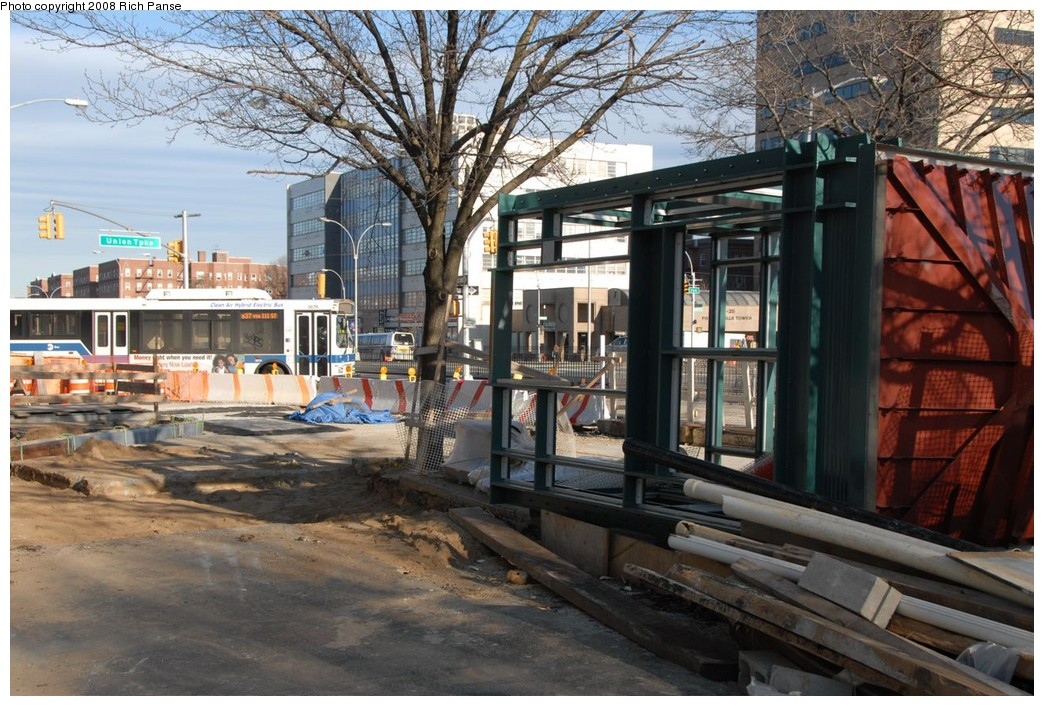 (265k, 1044x706)<br><b>Country:</b> United States<br><b>City:</b> New York<br><b>System:</b> New York City Transit<br><b>Line:</b> IND Queens Boulevard Line<br><b>Location:</b> Union Turnpike/Kew Gardens <br><b>Photo by:</b> Richard Panse<br><b>Date:</b> 2/16/2008<br><b>Notes:</b> Elevator construction.<br><b>Viewed (this week/total):</b> 2 / 2512