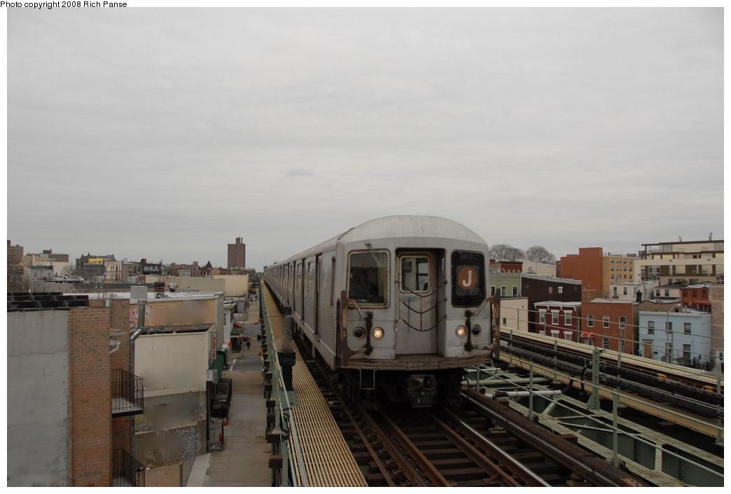 (132k, 1044x706)<br><b>Country:</b> United States<br><b>City:</b> New York<br><b>System:</b> New York City Transit<br><b>Line:</b> BMT Myrtle Avenue Line<br><b>Location:</b> Central Avenue <br><b>Route:</b> J reroute.<br><b>Car:</b> R-42 (St. Louis, 1969-1970)   <br><b>Photo by:</b> Richard Panse<br><b>Date:</b> 2/17/2008<br><b>Viewed (this week/total):</b> 3 / 1678