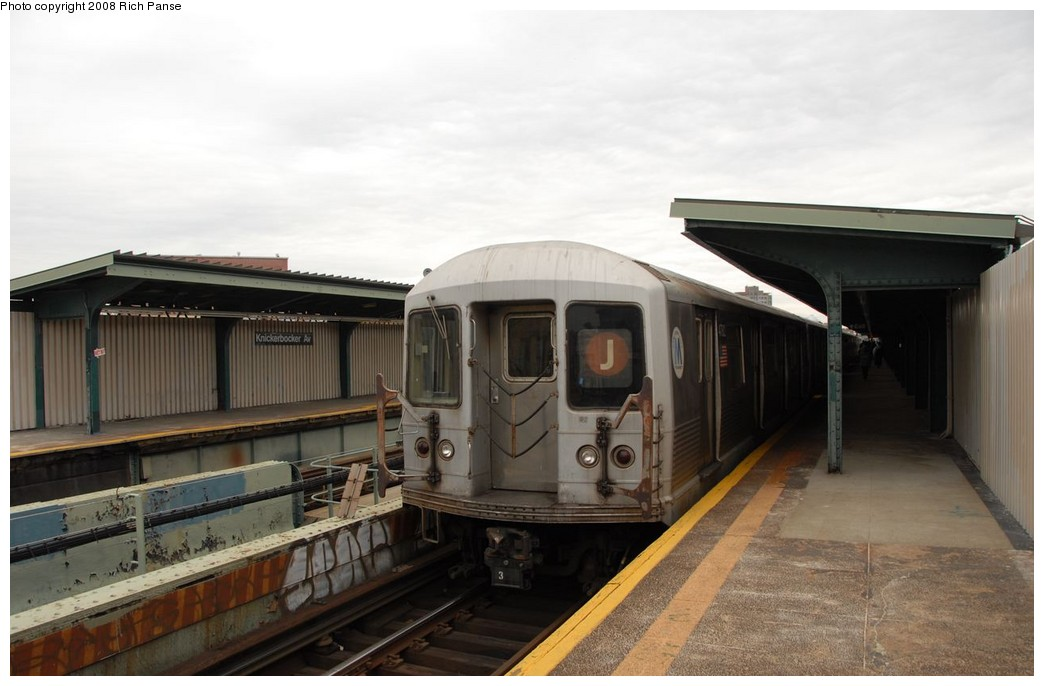 (144k, 1044x686)<br><b>Country:</b> United States<br><b>City:</b> New York<br><b>System:</b> New York City Transit<br><b>Line:</b> BMT Myrtle Avenue Line<br><b>Location:</b> Knickerbocker Avenue <br><b>Route:</b> J reroute.<br><b>Car:</b> R-42 (St. Louis, 1969-1970)  4782 <br><b>Photo by:</b> Richard Panse<br><b>Date:</b> 2/17/2008<br><b>Viewed (this week/total):</b> 0 / 1848