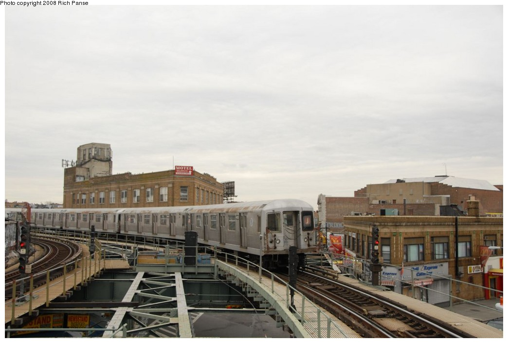 (169k, 1044x706)<br><b>Country:</b> United States<br><b>City:</b> New York<br><b>System:</b> New York City Transit<br><b>Line:</b> BMT Myrtle Avenue Line<br><b>Location:</b> Wyckoff Avenue <br><b>Route:</b> J reroute.<br><b>Car:</b> R-42 (St. Louis, 1969-1970)  4805 <br><b>Photo by:</b> Richard Panse<br><b>Date:</b> 2/17/2008<br><b>Viewed (this week/total):</b> 0 / 2069