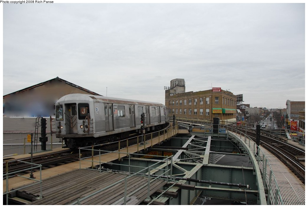 (159k, 1044x706)<br><b>Country:</b> United States<br><b>City:</b> New York<br><b>System:</b> New York City Transit<br><b>Line:</b> BMT Myrtle Avenue Line<br><b>Location:</b> Wyckoff Avenue <br><b>Route:</b> J reroute.<br><b>Car:</b> R-42 (St. Louis, 1969-1970)  4596 <br><b>Photo by:</b> Richard Panse<br><b>Date:</b> 2/17/2008<br><b>Viewed (this week/total):</b> 0 / 2025