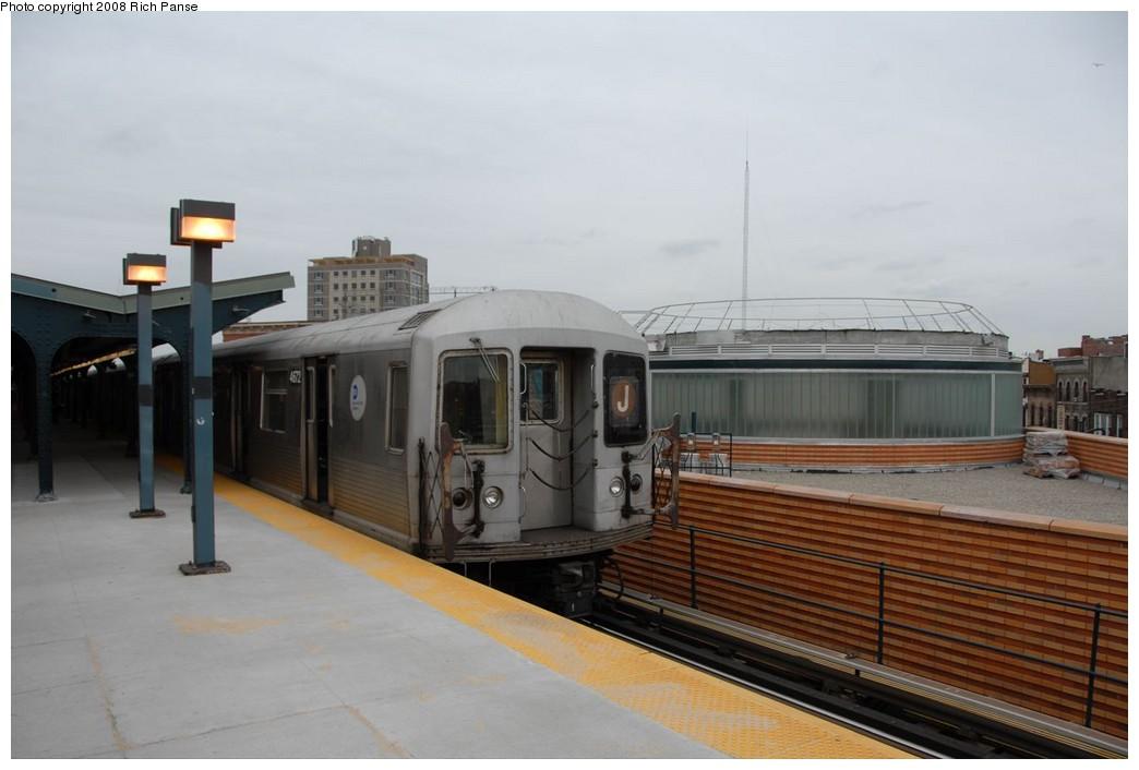 (158k, 1044x706)<br><b>Country:</b> United States<br><b>City:</b> New York<br><b>System:</b> New York City Transit<br><b>Line:</b> BMT Myrtle Avenue Line<br><b>Location:</b> Wyckoff Avenue <br><b>Route:</b> J reroute.<br><b>Car:</b> R-42 (St. Louis, 1969-1970)  4672 <br><b>Photo by:</b> Richard Panse<br><b>Date:</b> 2/17/2008<br><b>Viewed (this week/total):</b> 0 / 1757